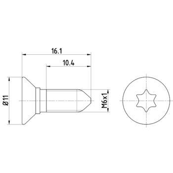 Teilebild Schraube, Bremsscheibe