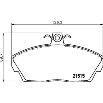 Teilebild Bremsbelagsatz, Scheibenbremse