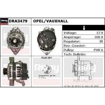 Lichtmaschine, Generator (Lichtmaschine/Generator) für Opel Combo B ...