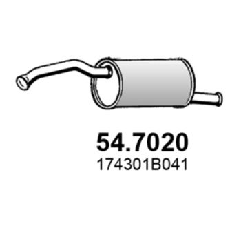 Asso 547020 Endschalldämpfer
