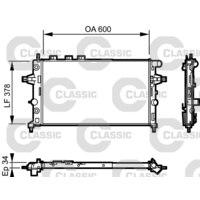Kühler, Motorkühlung VALEO CLASSIC
