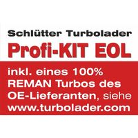 Lader, Aufladung - END of LIFE PROFIKIT - mit GARRETTbyHONEYWELL REMAN TURBO